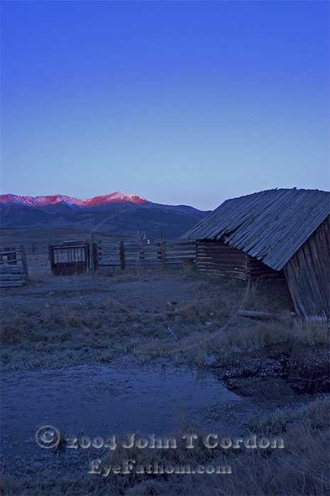 Eyefathom.com Photos - Mountains and Stable at Dawn