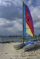 Hobie Cat on Beach