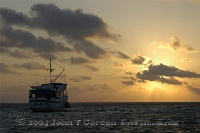 Dive Boat in Sunset