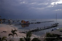 Ambergris Caye Docks at Sunrise
