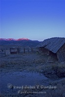 Mountains and Stable at Dawn